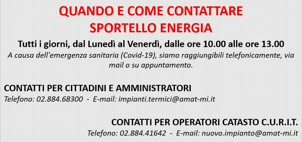 Sportello Contatti COVID