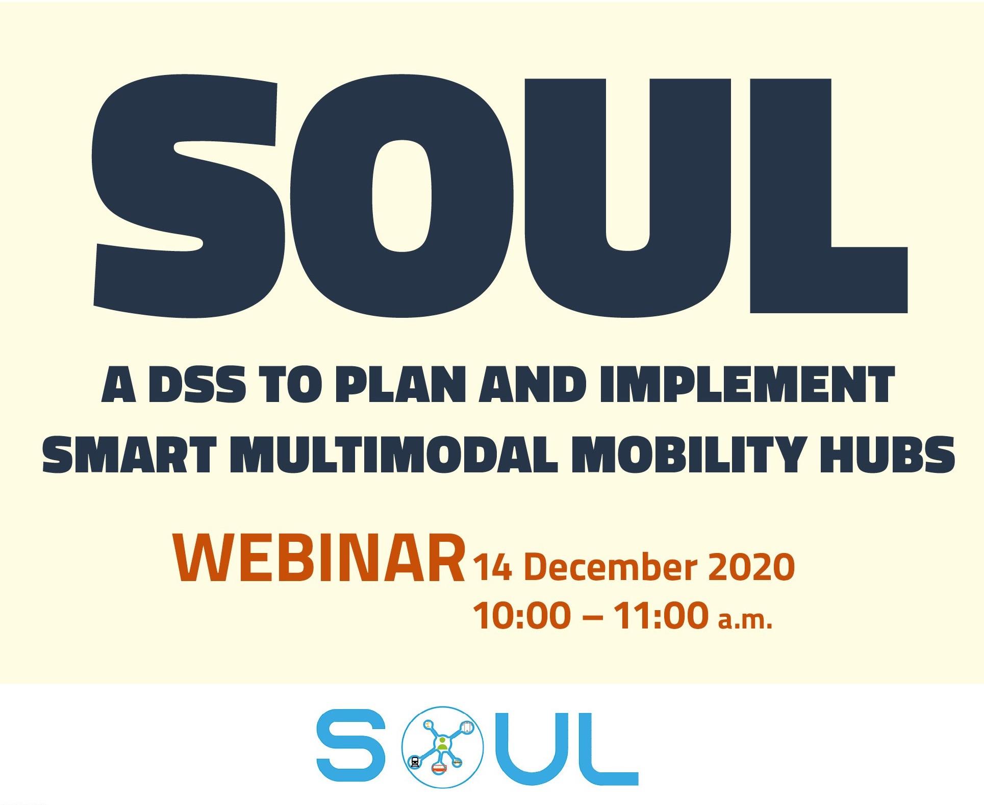 """Webinar """"SOUL: un DSS per progettare e realizzare Smart Multimodal Mobility Hubs"""""""