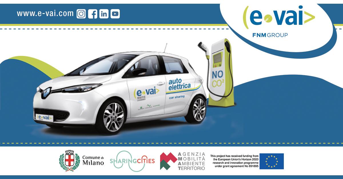 E-Vai: il car sharing elettrico ad uso esclusivo del condominio Bacchiglione di Milano